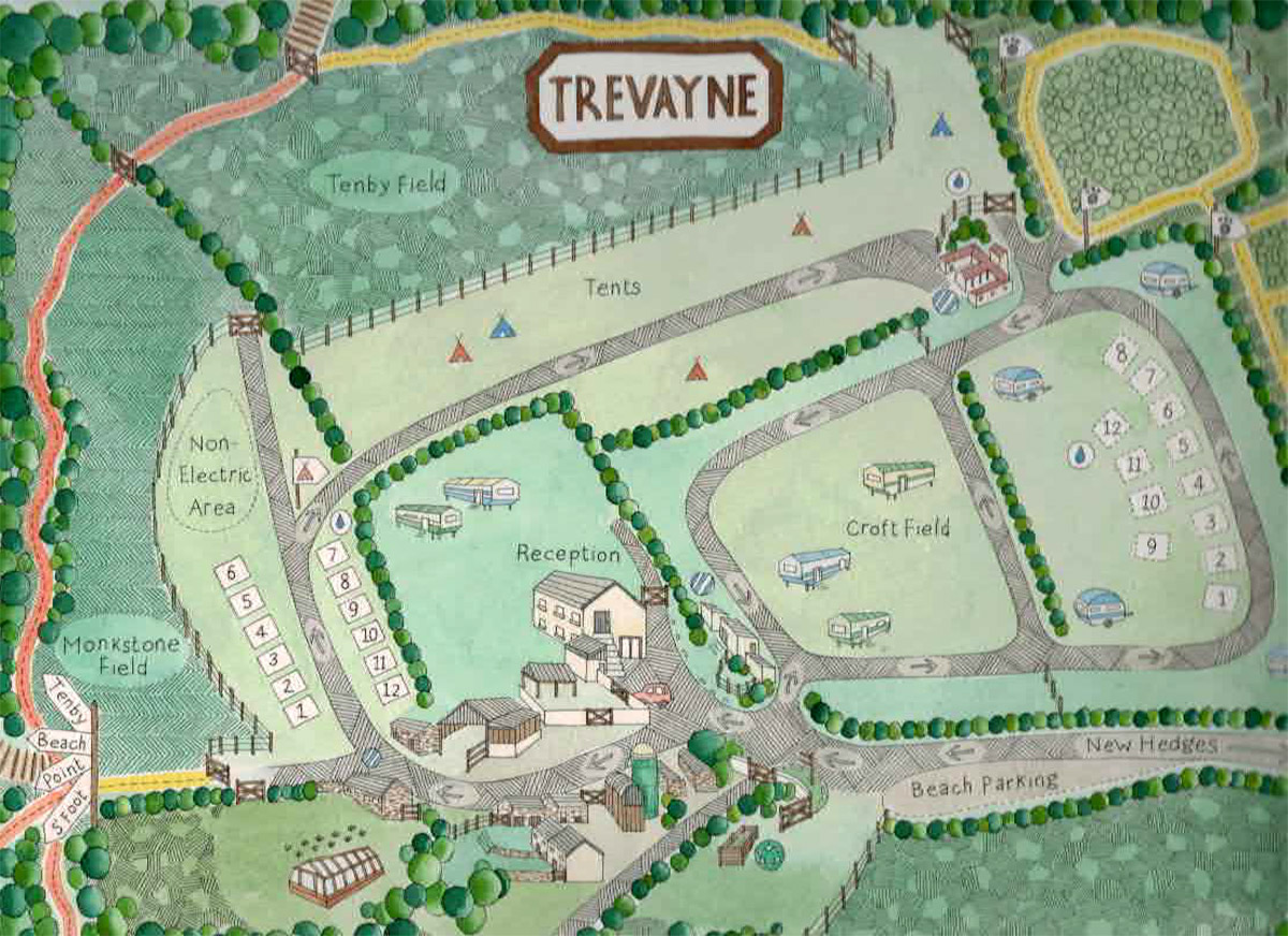 Trevayne Farm Map